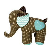 <strong>Trend Lab</strong> Cocoa Mint Elephant Stuffed Toy