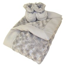 Luxe Blanket and Booties Gift Set