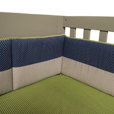 Perfectly Preppy 4 Piece Crib Bumper Set