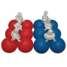 Ladderball Bolas with Three Red and Three Blue (Set of 6)