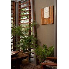 Pura Vida I Rain Drop Teak Panel in Natural with White Step Up and Natural Drops