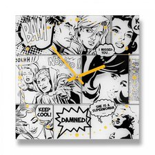 "11.75"" Pop Art Wall Clock"