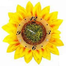 "<strong>Creative Motion</strong> 17.34"" Sunflower Wall Clock"