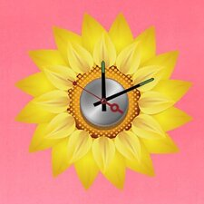 "Do It Yourself 14.17"" Sunflower Wall Clock"