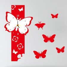 Do It Yourself Butterfly Wall Clock