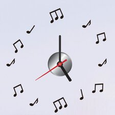 "Do It Yourself 12.59"" Music Note Wall Clock"