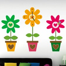 Do It Yourself Flower Pot Wall Clock