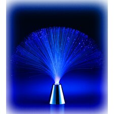 "Battery-Operated LED Fiber 13.25"" H Table Lamp"