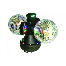 <strong>Creative Motion</strong> Twin Mirror Ball Table Lamp