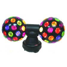 """Twin Electrical Disco Ball Light 7.38"""" H Table Lamp"""