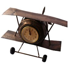Retro Airplane Table Clock
