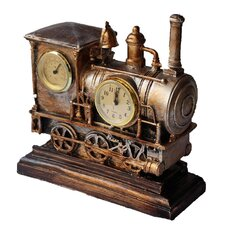 Retro Train Table Clock