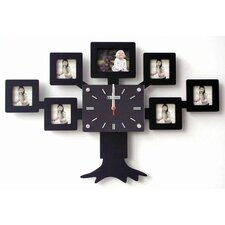 Family Tree Clock with Picture Frame