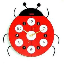 <strong>Creative Motion</strong> Ladybug Wall Clock