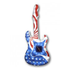 American Flag Guitar Wall Clock