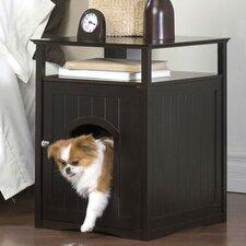 Nightstand Pet Crate & Litter Box Enclosure