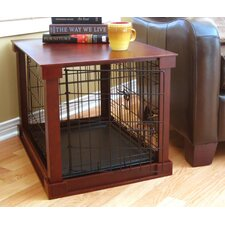 Deluxe Wood and Wire Dog Crate