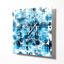 "15"" Blue Bubbles Wall Clock"