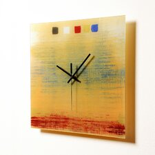 "<strong>HangTime Designs</strong> 15"" Textile Wall Clock"