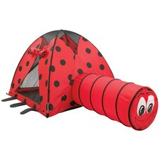 <strong>Pacific Play Tents</strong> LadyBug Play Tent and Tunnel Combination