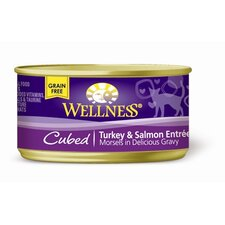 Cubed Turkey and Salmon Entrée Canned Cat Food (3-oz, case of 24)