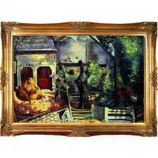 <strong>Tori Home</strong> Bellows Old Farmyard Toodleums Hand Painted Oil on Canvas Wall Art