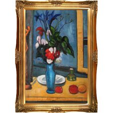 Le Vase Bleu by Paul Cezanne Framed Original Painting