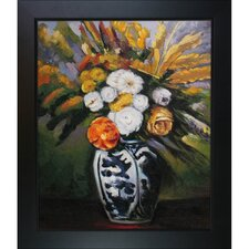 Cezanne Dahlias Hand Painted Oil on Canvas Wall Art