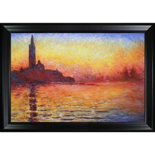 Monet San Giorgio Maggiore by Twilight Hand Painted Oil on Canvas Wall Art