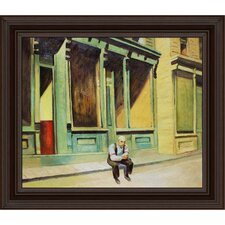 Sunday by Hopper Framed Original Painting
