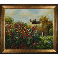Monet The Artist's Garden Hand Painted Oil on Canvas Wall Art