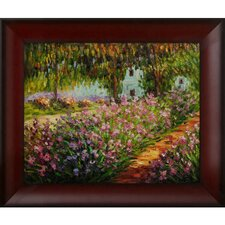 Monet Artist's Garden at Giverny Hand Painted Oil on Canvas Wall Art