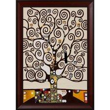 Tree of Life by Klimt Framed Original Painting