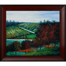 Apple Trees in Bloom at Vetheuil by Monet Framed Original Painting