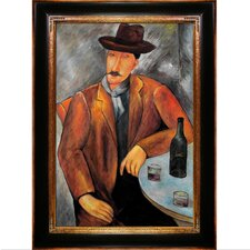 Modigliani Seated Man Hand Painted Oil on Canvas Wall Art
