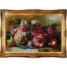 Discarded Roses by Renoir Framed Original Painting