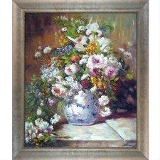 Grande Vase Di Fiori by Renoir  Framed Original Painting