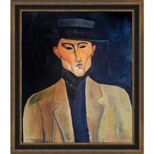 Portrait of a Man with Hat (Jose Pacheco) by Modigliani Framed Original Painting