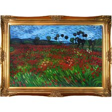 Field of Poppies Van Gogh Framed Original Painting