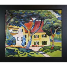 House in Landscape by August Macke Framed Original Painting