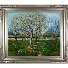 Orchard in Blossom (Plum Trees) by Van Gogh Framed Original Painting