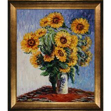 Monet Sunflowers Hand Painted Oil on Canvas Wall Art
