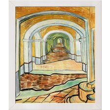 Corridor of Saint Paul Asylum in Saint Remy by Van Gogh Framed Original Painting