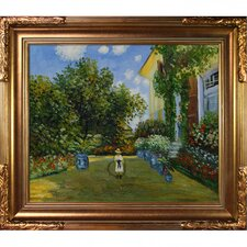 Monet La Casa Della Artista Hand Painted Oil on Canvas Wall Art
