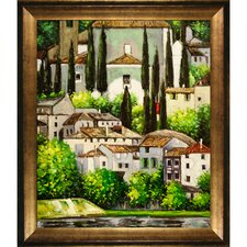 <strong>Tori Home</strong> Klimt Church in Cassone(Landscape with Cypress) Hand Painted Oil on Canvas Wall Art