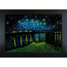 Starry Night Over the Rhone by Van Gogh Framed Original Painting