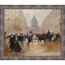 Boulevard Saint-Michel Raffaelli Framed Original Painting