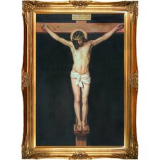 Christ on the Cross Velazquez Framed Original Painting
