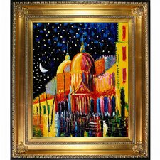 Night Kopania Framed Original Painting