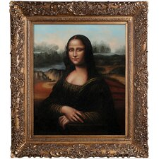 Mona Lisa Da Vinci Framed Original Painting